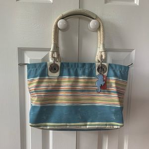 Rare beach/nautical themed Coach designer bag